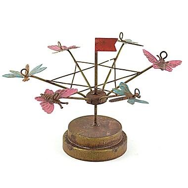 MidwestDesignImports Miniature Garden Tilt-a-Whirl Statue (Set of 3)
