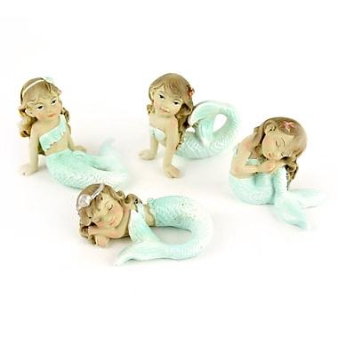 MidwestDesignImports Miniature Garden 4 Piece Mermaid Statue Set