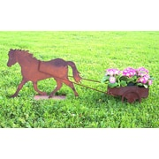 ZGardenParty Pony Steel Wheelbarrow Planter