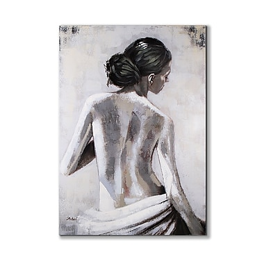 Magari View of Her Back' Painting on Wrapped Canvas
