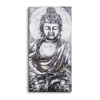 Magari Peace Buddha' Painting on Wrapped Canvas