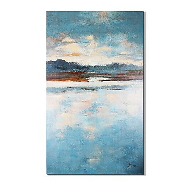 Magari Jade Lake' Painting on Wrapped Canvas