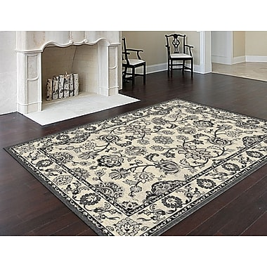 Bristol BRS1009 Gray Traditional Area Rugs