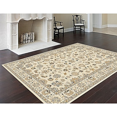 Bristol BRS1412 Yellow Traditional Area Rugs