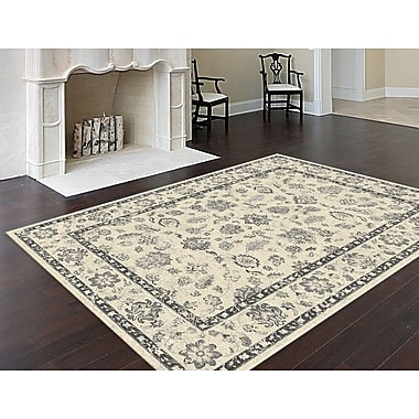 Bristol BRS1510 Silver Traditional Area Rugs