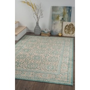 Cambridge CBR1114 Aqua Traditional Area Rugs