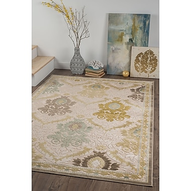 Cambridge CBR1417 Cream Transitional Area Rugs