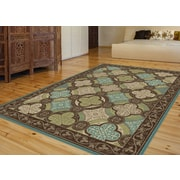 Capri CPR1005 Brown Transitional Area Rugs