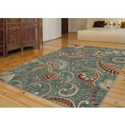Capri CPR1009 Blue Transitional Area Rugs