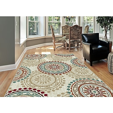 Deco DCO1011 Ivory Transitional Area Rugs