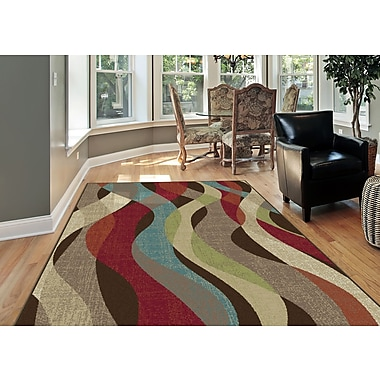 Deco DCO1013 Brown Transitional Area Rugs