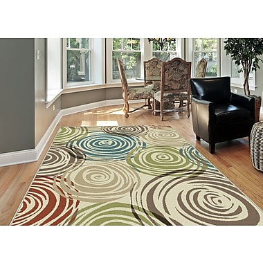 Deco DCO1016 Ivory Contemporary Area Rugs