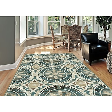 Deco DCO1017 Ivory Transitional Area Rugs