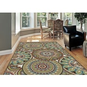 Deco DCO1018 Multi Transitional Area Rugs