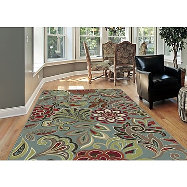 Deco DCO1023 Blue Transitional Area Rugs