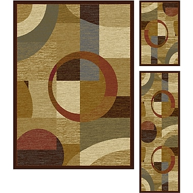 Elegance 5110 Multi Contemporary Area Rugs, 3-Piece Set