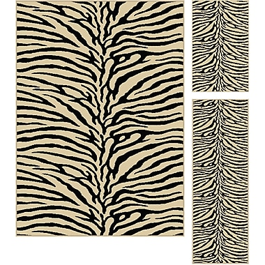 Elegance 5162 Beige Transitional Area Rugs, 3-Piece Set