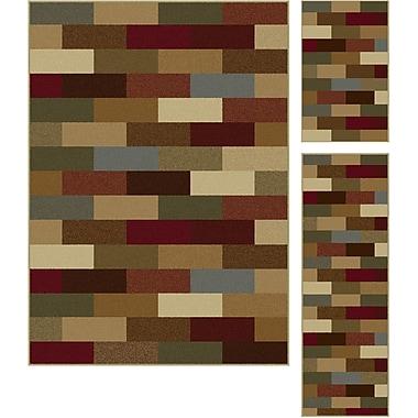 Elegance 5180 Multi Contemporary Area Rugs, 3-Piece Set