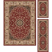 Elegance 5390 Red 3 Piece Rugs Set Transitional Area Rugs