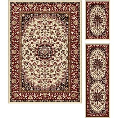Elegance 5392 Beige 3 Piece Rugs Set Transitional Area Rugs