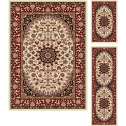 Elegance 5392 Beige 3 Piece Rugs Set Transitional Area Rugs