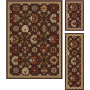Elegance 5458 Brown 3 Piece Rugs Set Transitional
