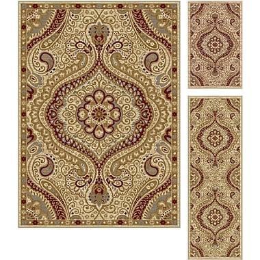 Elegance 5462 Ivory 3 Piece Rugs Set Transitional
