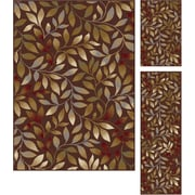 Elegance 5488 Brown 3 Piece Rugs Set Transitional