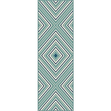 Garden City GCT1023 Blue Transitional Runner