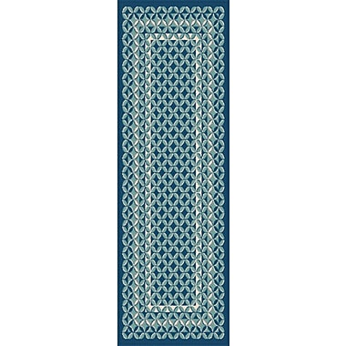 Garden City GCT1026 Navy Contemporary Area Rugs