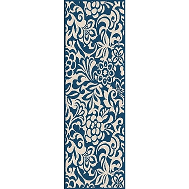 Garden City GCT1031 Navy Transitional Area Rugs