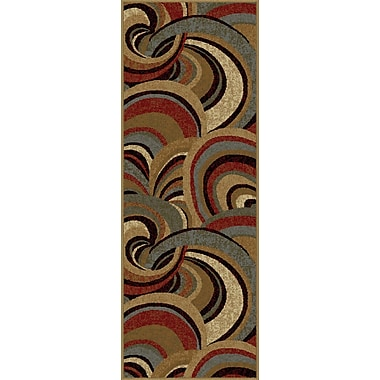 Impressions 7830 Brown Contemporary Runner