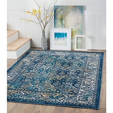 Journey JRN1207 Navy Area Rugs