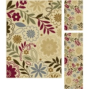 Laguna 4542 Beige 3 Pc. Set Contemporary Area Rugs