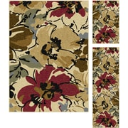 Laguna 4570 Beige 3 Pc. Set Contemporary Area Rugs