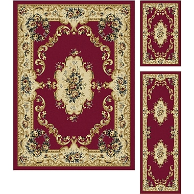 Laguna 4610 Red 3 Pc. Set Traditional Area Rugs