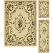 Laguna 4612 Beige 3 Pc. Set Traditional Area Rugs