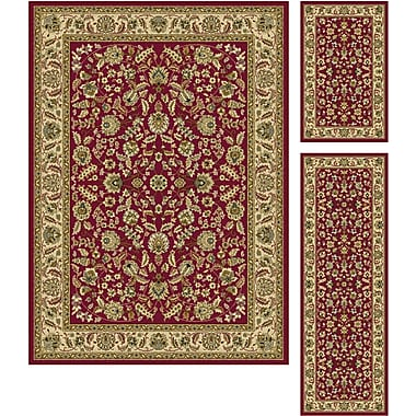 Laguna 5070 Red Traditional Area Rugs