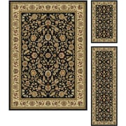 Laguna 5073 Black Traditional Area Rugs