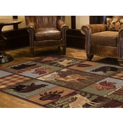 Nature 6568 Multi 5ft. 3 in. x 7 ft. 3 in. Lodge Area Rug