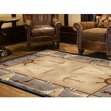 Nature 6582 Beige Lodge Area Rugs