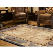 Nature 6582 Beige 5ft. 3 in. x 7 ft. 3 in. Lodge Area Rug