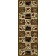 Nature 6610 Beige Lodge Runner