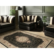Sensation 4673 Black Traditional Area Rugs
