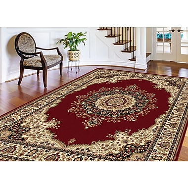 Sensation 4700 Red Traditional Area Rugs
