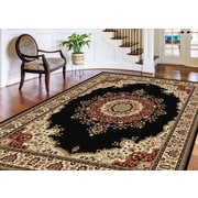 Sensation 4703 Black Traditional Area Rugs