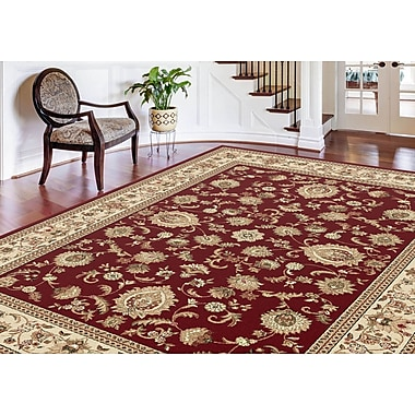 Sensation 4720 Red Traditional Area Rugs