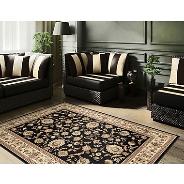 Sensation 4723 Black Traditional Area Rugs