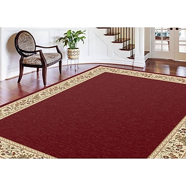 Sensation 4740 Red Transitional Area Rugs