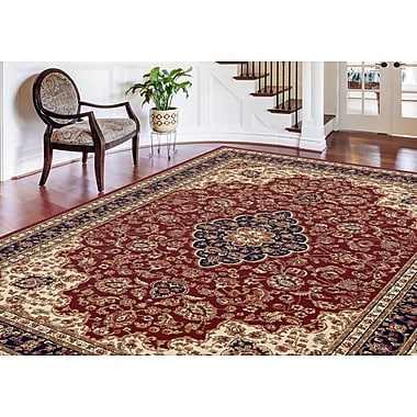 Sensation 4780 Red Traditional Area Rugs
